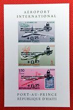 ZAYIX - 1960 Haiti C176a MNH souvenir sheet / Scouts ovpt on Intl Airport