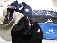 Mission ENDURACOOL Multi Cool BEACH HAT Visor w/ zipper &FREE Mission Towel/ X@
