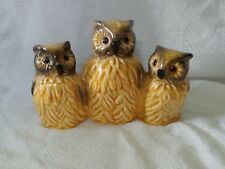 VTG GOEBEL W.GERMANY OWL FAMILY, 3 OWLS #3834007 FIGURINE, RARE