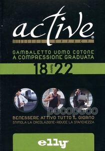 CALZINI GAMBALETTI RIPOSANTI UOMO mmHg 18/22 COTONE ELLY ART. CR9101