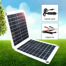 60W 18/12/5V Dual USB Solar Panel For Car Boat Battery Charge Camping+Controller