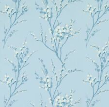 Laura Ashley Wallpaper Pussy Willow Seaspray (3 Rolls, Batch No. W090545-A/1)