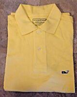 NWT Vineyard Vines Men's Polo Shirt Whale Logo Classic-Fit S M L XL, Yellow