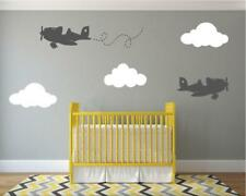 Avion Wall Stickers Big Moelleux nuages decals Baby Nursery Stickers Chambre