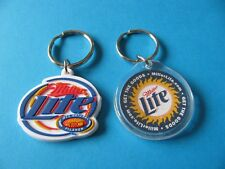 2, Miller Lite Key Rings. From The USA. VGC