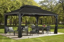 Sojag Messina Galvanized-Steel-Roof Sun Shelter  12 x 16'