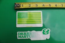 USA Flag Green Weed Cannabis Marijuana Sexy MISC MUSIC Party Clear STICKER x 2