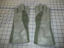 NWT military 100% genuine gloves summers flyers size12 sage green leather nomex