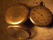 Elgin Nat'l Watch Co. Jewels Running Gold Pocket Watch 1917 Keystone 25 yr.Case
