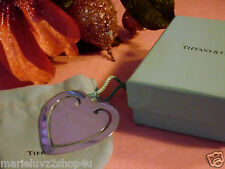 """CYBER SALE !!! Authentic Tiffany LG Silver Heart Book Mark """"POUCH/BOX INCLUDED"""""""