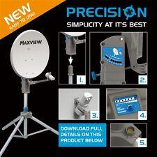 Maxview Precision MXL012 75cm Twin LNB Caravan Motorhome Satellite Dish Kit