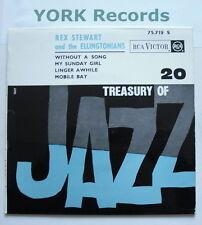 "REX STEWART & THE ELLINGTONIANS - Treasury Of Jazz EP - Excellent Con 7"" Single"