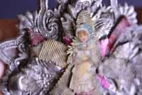 Antique German Tree Ornament Decor DRESDEN Christmas Star Girl Lady Handmade
