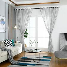 1m*2m Tulle Curtain Window Living Room Bedroom Heart Stripe Decor Drape