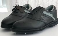 Golf Shoes Classic Handro Footwear Size 7 Black Spikes Leather Brogue NEW FAULTY