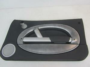 02 BMW MINI COOPER Black Silver RF Right Front Passenger Door Trim Panel
