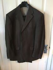 """Men's Suit M&S 100% lana, neutro, tamaño 40"""" (s) en el pecho, pantalones 34"""" Cintura. 2 Par"""