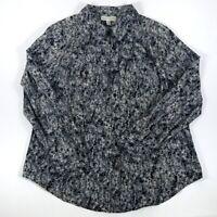 Dana Buchman Womens Blouse Size 1X Button Down Career Casual Long Sleeves Soft