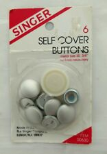"Singer Covered 6 Button Kit 3/4"" Size 30"