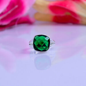 Lovely Chrome Diopside Gemstone 925 Sterling Silver Handmade Ring All Size