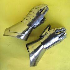 Metal Medieval Knight Gauntlet Gauntlet Gloves Steel Crusader Spartan Armor