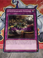 Carte YU GI OH D/D/D RESSOURCES HUMAINES DOCS-FR097 x 3