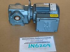 "Sew Eurodrive Sa37Dt71D4, 37.66:1 ratio, 45 rpm, .50hp, 230/460, H1, .75"" Hollow"