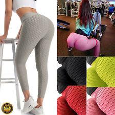 Женские штаны для йоги антицеллюлитные леггинсы с высокой талией спорт тренажерный зал соты брюки