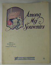 Vintage SHEET MUSIC 1927 AMONG MY SOUVENIRS There's nothing left for me...