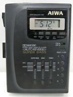Vtg Aiwa HS-T65 Personal Stereo Radio Cassette Player Super Base PARTS or REPAIR