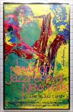1974 Vintage LeROY NEIMAN Signed AUTOGRAPH on NEWPORT JAZZ FEST Litho Poster COA