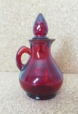 Vintage Avon Ruby Red Glass Cruet Decanter Strawberry Stopper