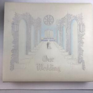 Camilla Wedding Album White Leather Gold Tips Vintage Read Description