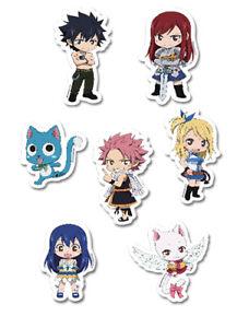 *Legit* Fairy Tail Natsu Gray Lucy Happy Wendy Authentic Puffy Sticker Set#55492
