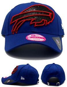 Buffalo Bills New Era 9Forty Women Ladies Dazzle Glisten Bling Blue Red Hat Cap
