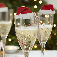 10Pcs Creative Christmas Hat Wine Glass Decorate Ornament Accessories Gift Hot