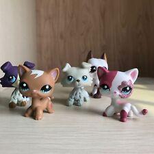 5pcs Littlest Pet Shop Short Hair Cat Collie Great Dane Dog Collection LPS Toy