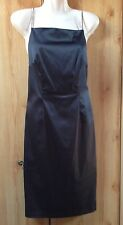 Top Shop Little Black Dress with Diamante Straps Excellent Condition Size 10