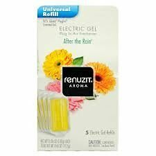 60 Refills - Renuzit Gel Electric After The Rain Air Freshener Refill Fits Glade