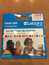Carte SIM prépayée Lebara Mobile 7,50 € Crédit
