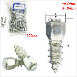 100 x 9mm Screw in Tire Stud Snow Spikes Wheel Tyres Chains for Car/Truck/ATV