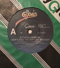MICHAEL JACKSON Don't Stop Til You Get Enough RARE OZ 45 Sample Promo