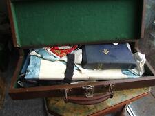More details for blue masonic apron, black sash, books & ephemera in wooden case