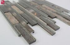 Pâte de Verre Aluminium Marbré Carrelage Mosaïque Brillant Mat Doré Beige 1m ²