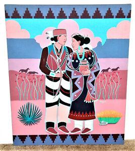 Beverly Blacksheep Native American Couple in Southwestern Landscape