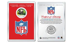 NEW ORLEANS SAINTS NFL Helmet JFK Half Dollar Coin w/4x6 Lens Display - LICENSED