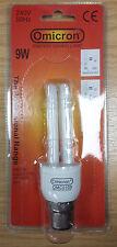 6 X Omicron 9w (50w) ES Energy Saving Mini-stick Lamps