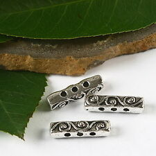 12pcs Tibetan silver 3 holes bar spacer beads h2491