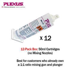 Plexus MA310 All Purpose High Strength MMA Adhesive 50ml cartridge 12-Pack-31500