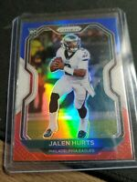 Jalen Hurts 2020 Panini Prizm #343 Rookie RC Red/White/Blue Parallel SP Eagles